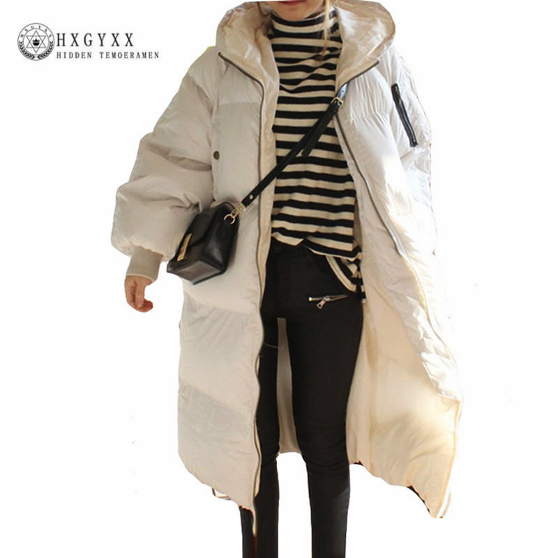 Women Winter Jacket 2017 Long Cocoon Hooded Military Parka Plus Size Loose Down Cotton Outwear Thick Warm Quilted Coat Okb227 long sleeve plus size cocoon dress