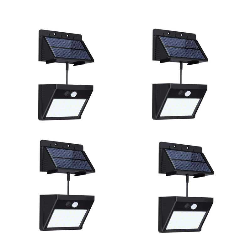 4 упак. Сплит солнечные огни Открытый водонепроницаемый датчик движения