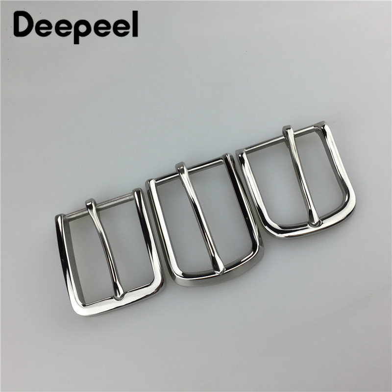 Stainless Steel Men Belt Buckles Metal Pin Belt Buckle For Belt 33-34mm Boucle De Ceinture DIY Leathercraft Jeans Accessories