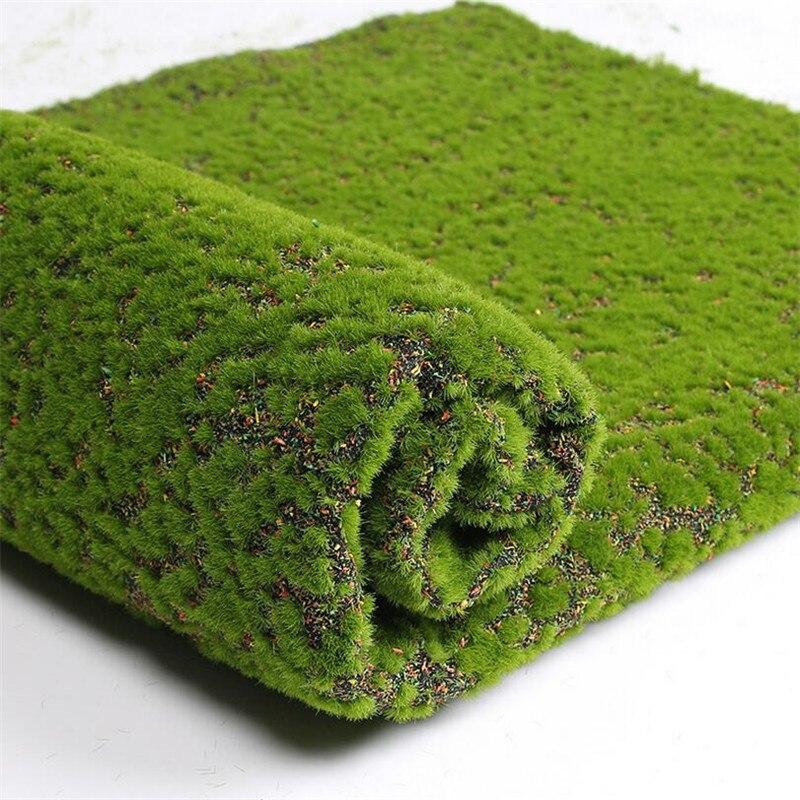 Flone 1 M * 1 M carré artificiel plante pelouse Simulation plante fond mur mousse pelouse vert pelouse maison intérieur fenêtre décor