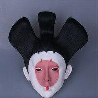 전체 헤드 2017 영화 유령 있어서 쉘 일본 게이샤 로봇 코스프레 할로윈 마스크 라텍스 코스프레 마스크 일본어 마스