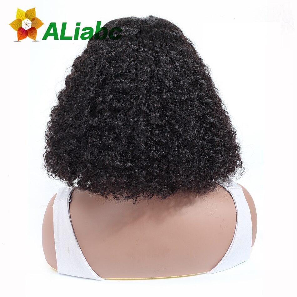 Aliabc 13 4 Bob Wigs Peruvian Lace Front Human Hair Wigs For Black Women Natural Color