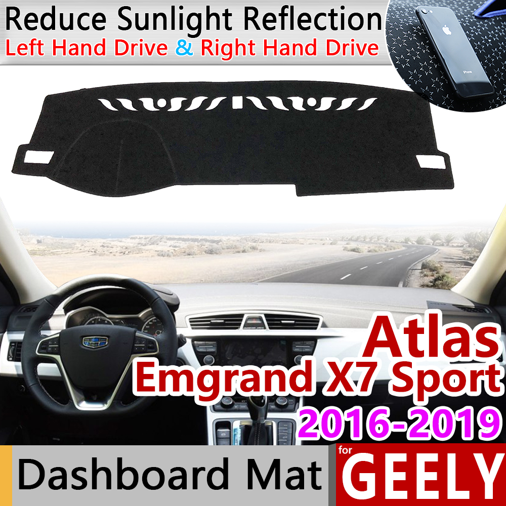 For Geely Atlas Boyue Emgrand X7 Sport 2016 2017 2018 2019 Anti-Slip Mat Dashboard Cover Sunshade Dashmat Protect Accessories