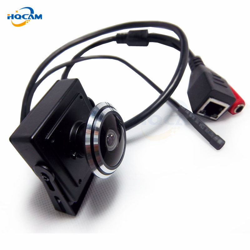 Image 2 - HQCAM 5/4/3/2/1.3/1MP Audio video camera MINI IP camera H.264 mic camera P2P network 1.78mm Fisheye Wide Angle Fisheye Lens-in Surveillance Cameras from Security & Protection