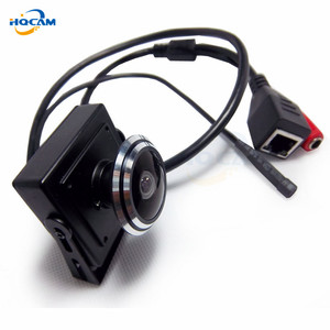 Image 2 - HQCAM 5/4/3/2/1.3/1MP Audio video camera MINI IP camera H.264 mic camera P2P network 1.78mm Fisheye Wide Angle Fisheye Lens