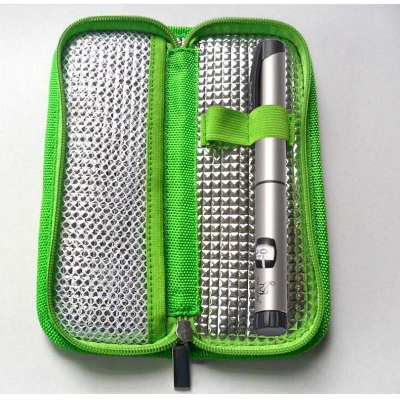 НОВАЯ Портативная сумка-холодильник для инсулина, органайзер для пациентов диабетиков, медицинские дорожные изолированные Чехлы и раздели...