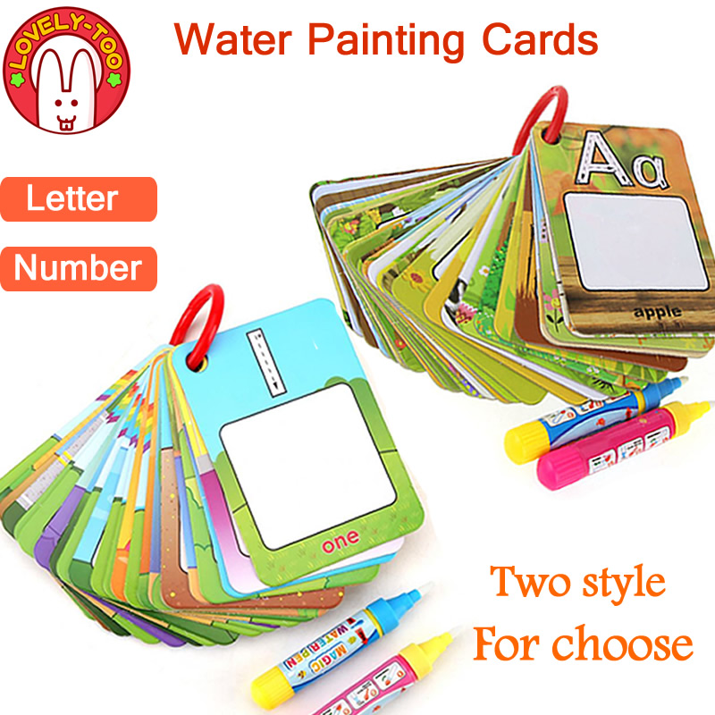 все цены на Magic Drawing Book Water Coloring Toys Clipboard Painting Doodle Creation Board With Pens Kids Craft Educational Child Game онлайн