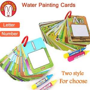 Image 1 - Magic Tekening Boek Water Kleuring Speelgoed Klembord Schilderen Doodle Creatie Board Met Pennen Kids Craft Educatief Kind Spel