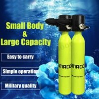 SMACO BRAND 500mL Mini Diving Cylinder Scuba Oxygen Tank 3000psi/200bar Aviation aluminum Scuba Oxygen Tank Diving Equipment