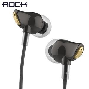 Image 1 - ROCK In Ear cyrkon słuchawki stereo gorąca sprzedaż 3.5mm zestaw słuchawkowy do iphonea 6 6S 5 5S SE 4 4S Samsung luksusowe słuchawki douszne z mikrofonem