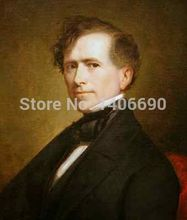 TOP art work -Christmas present # USA America President  Franklin Pierce -24″ inch -handpaint oil painting on canvas