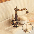 European Bathroom Faucet Antique Brass Basin Faucet Carved Taps Hot And Cold Water Tap Mounted Kitchen Faucet Bathroom Products