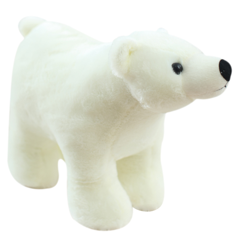 25/35/45cm Simulation Polar Bear Plush Toy Stuffed Animal Toys For Children Education Home Decoration Decent Bed