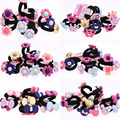 30pcs/lot Mixed 2016 NEW Baby Girls Elastic Bands Ponytail Holder Bow Flower Head Rope Ties Hair Band Kids Baby Hair Accessories