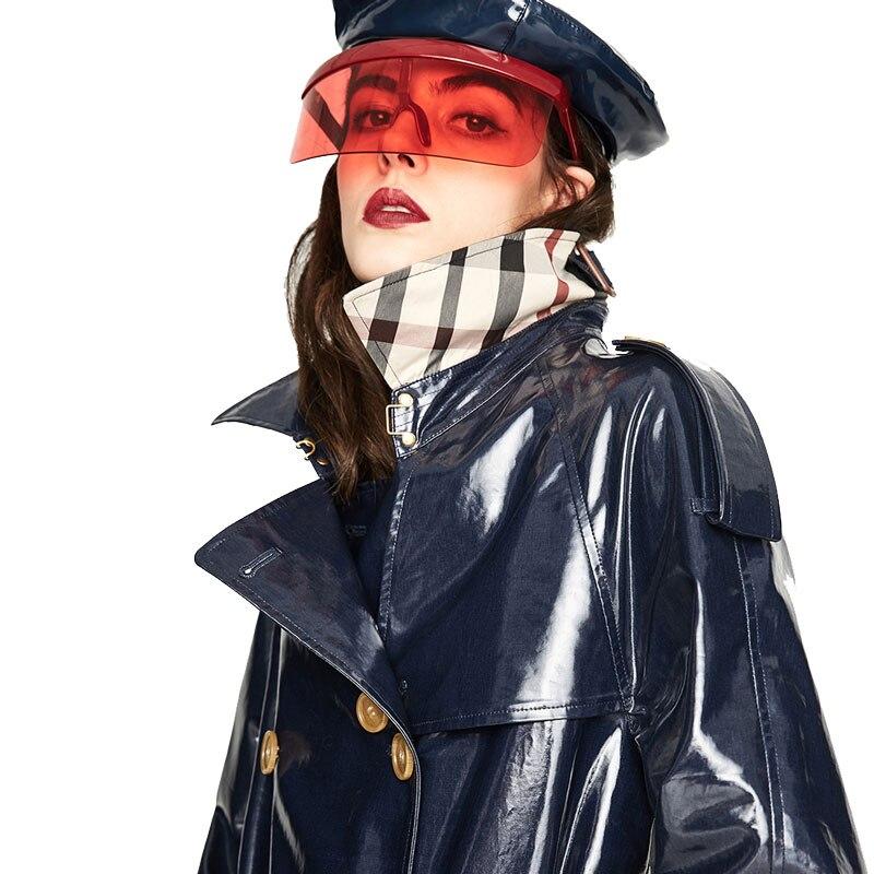 Graben Frauen Kol Lange Kakifarbig Zweireiher Heritage Aize Kleidung Mantel 2018 Neue Gloria Westminster Saati Tpu königliches Wasserdicht Die Herbst Blau Eqwv7Y
