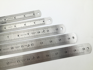 Image 4 - Steel ruler thicker  Drafting Supplies hardware tools ruler double faced for office and school kawaii