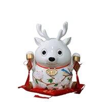 Детская копилка милый олень копилки современный минималистский дом украшения, рождественские подарки Смола Лаки монета с животными коробк