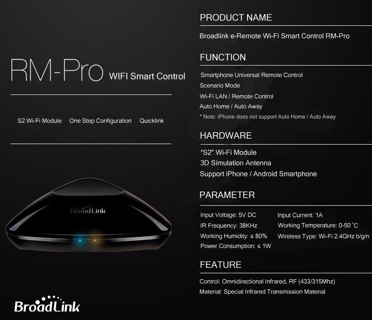 2017 Broadlink RM03 RM PRO Uniwersalny Inteligentny Pilot Smart Home Automation WiFi + IR + RF Przełącznik Poprzez IOS Android Telefon 31
