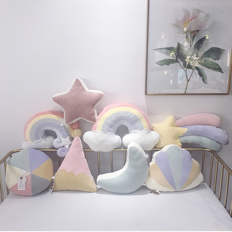 100% Cotton Baby Pillows Room Decor Multifunction Dolls Soft Kids Pillow Cute Decorate Cloud Lady Pillow Cloth Doll For Newborn