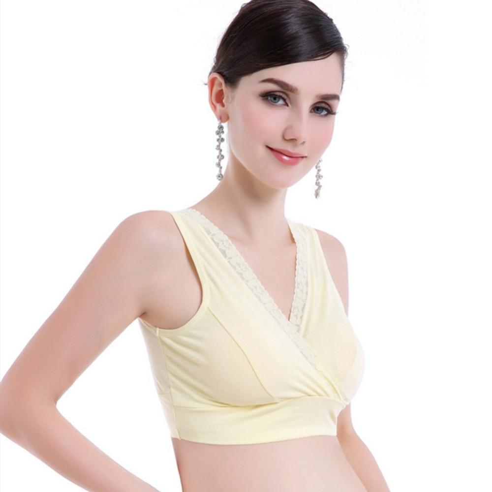 d7b9b79049 2019 Pregnant Women Bra Maternity Breastfeeding Sleeping Underwear ...