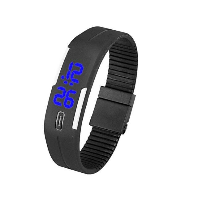 1ba950d8e9c 2018 de Alta Qualidade Branco Digital led Relógio Das Mulheres Dos Homens  Relógio de Pulso Esportes