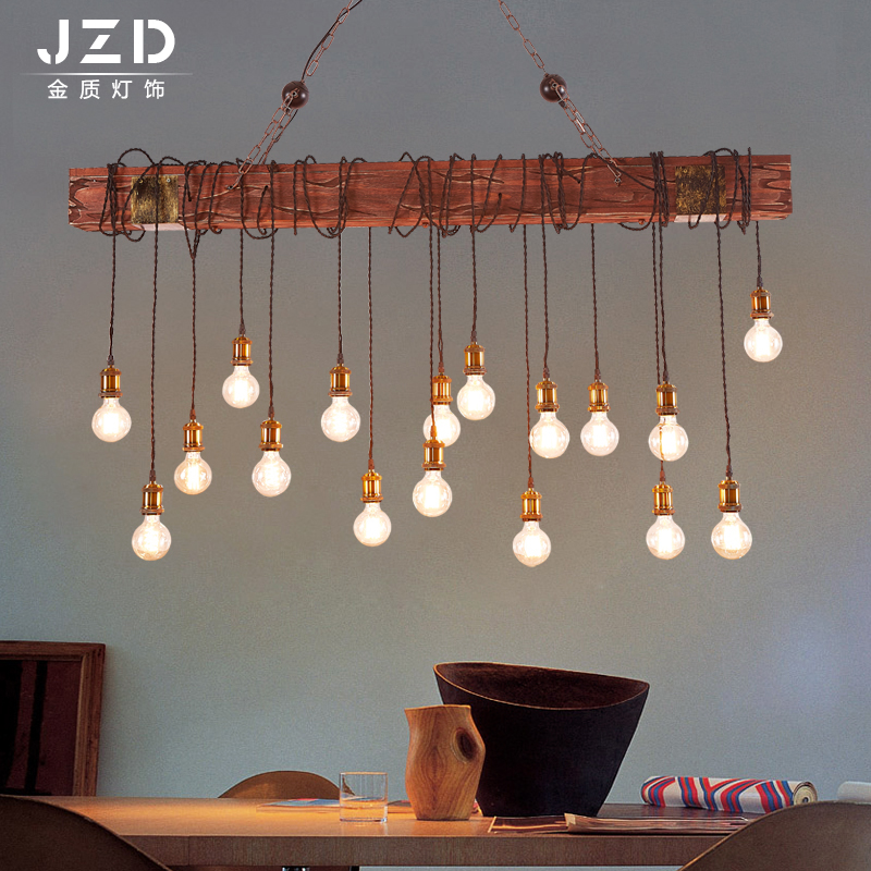 Retro Vintage Rope Pendant Light Lamp Loft Creative Personality Industrial Lamp American Style For Ding Living Room Restaurant