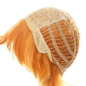 Image 5 - L e mail peruca demon slayer zenitsu agatsuma cosplay perucas kimetsu não yaiba cosplay curto cor mista peruca de cabelo sintético perucas