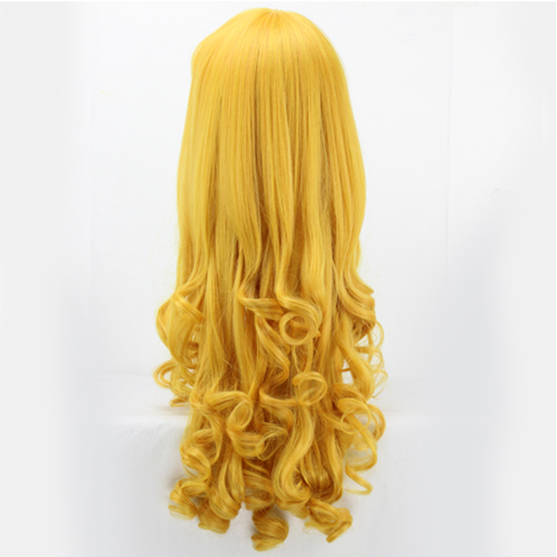Image 4 - Sleeping Beauty Princess Aurora wig Cosplay Costume Briar Rose Women Long Yellow Synthetic Hair Halloween Party Role Play wigs-in Anime Costumes from Novelty & Special Use