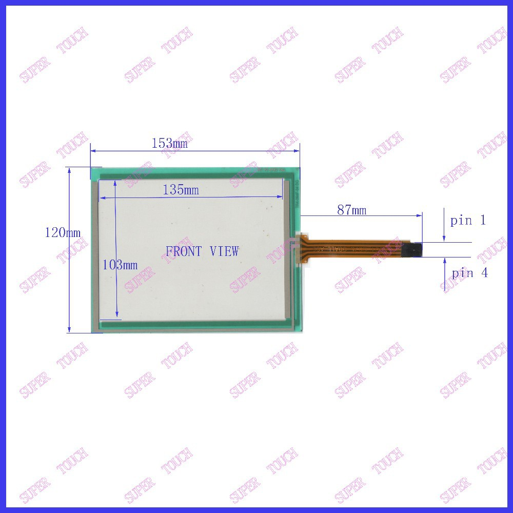 New 6.4 Inch Touch Screen 153mm*120mm   sensor glass 153*120 commercial use TR4-064F 04 for gps touch on PA064DS1 display new xbtg5230 touch screen touch glass pa n el