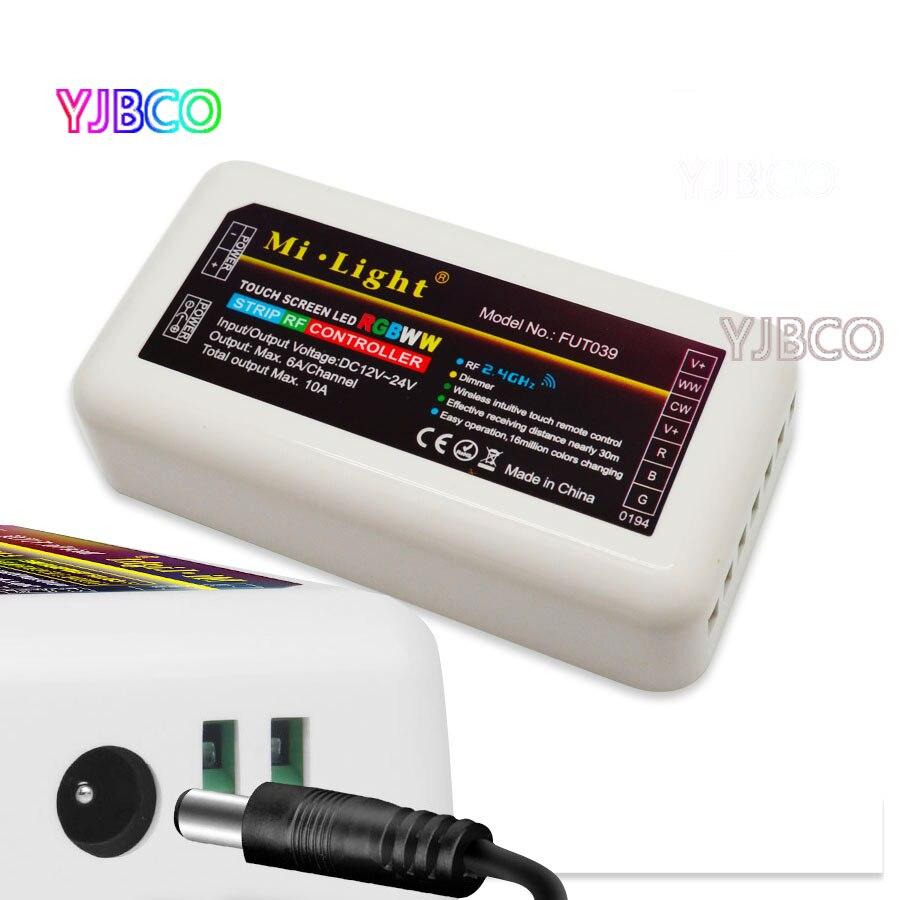 Drahtlose Mi Licht 2,4g 4-Zone FUT039 Drahtlose RGB + CCT LED Controller Dimmer für Flexible 5050 3528 RGB CCT Led Streifen Lichter