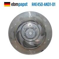 EBMPAPST r4e450 ak01 01 AC 230 В 3A 680 Вт 450x450 мм центробежный вентилятор охлаждения