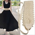 Exquisite Lace Belts For Women Lace Up Free Size Summer Style Belts Wide Belt For Dress Skirt 2016 New Arrival Accessories Belt