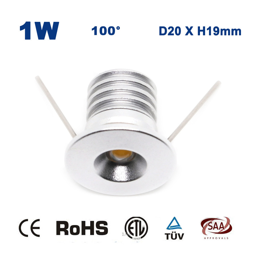 1W DC 12V 24V 100Lm LED Ceiling recessed lights 80Ra Kitchen Living Room Bed Room Bulb Lamp CE RoHS ...