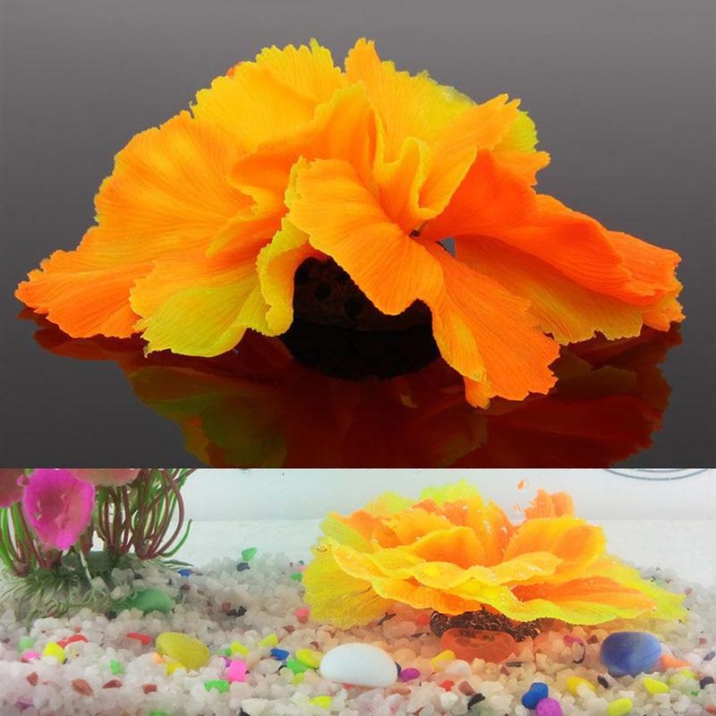 Silicone Aquarium Fish Tank Decor Artificial Coral Plant Underwater Ornament New