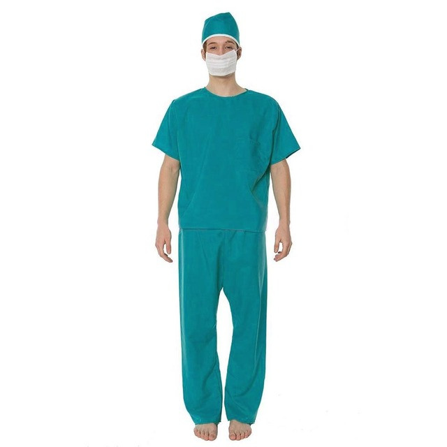 Adult Hospital Scrubs Nurse Gown Men\'s Surgeon Costume Doctor ...