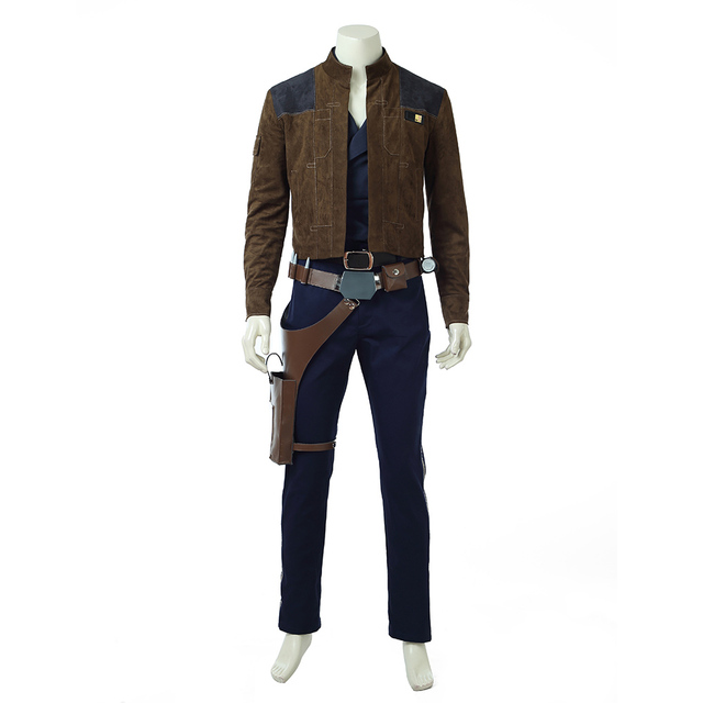 2018 Movie Solo: A Star Wars Story Cosplay Costume Men Han Solo Cosplay Costume Halloween Costumes For Men Full Set Custom Made 3