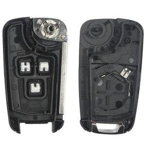 Image 5 - jingyuqin 20pcs/lot 2/3/4/5 Buttons Flip Folding Car Key Shell for Chevrolet Cruze Remote Key Case Keyless Fob Uncut HU100 Blade