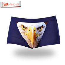 Cotton Wolf Underwear Men Boxer Cartoon 3D Panties Penis Pouch Male Underpants Sheer Men's Boxer Shorts Funny Boxershorts Brand