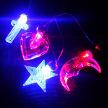 New Led Flashing  Pendants Necklace  Party Glow Halloween Gift