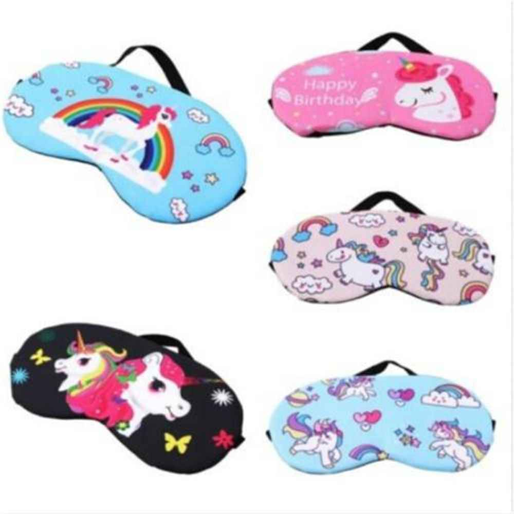 Lovely Sleep Unicorn Mask Soft Eye Shade Travel Sleeping Natural Cover for Girl Kid Teen Blindfold New Fashion 2019