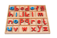 Монтессори головоломки раннее образование большой Дерево Съемный Алфавит учебных пособий интеллектуальной интерактивные обучающие игруш