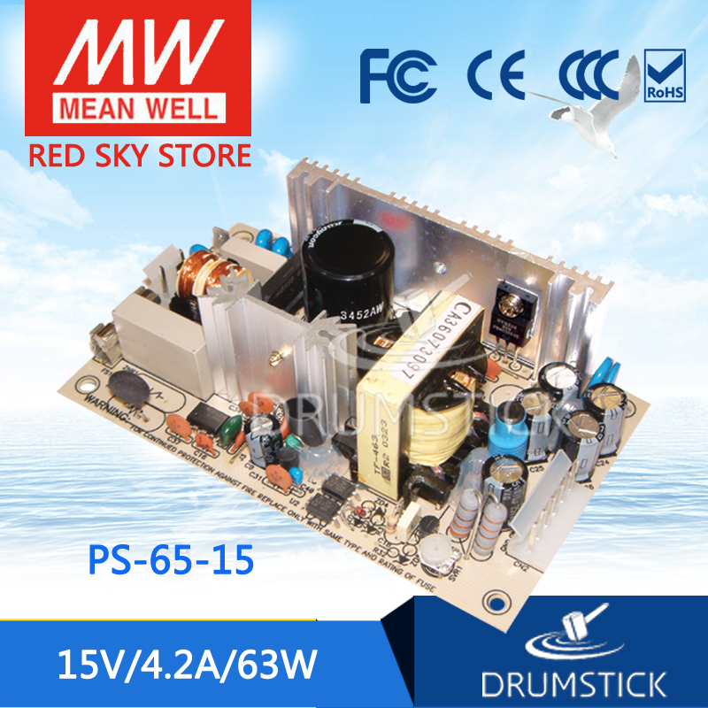 Selling Hot MEAN WELL PS-65-15 15V 4.2A meanwell PS-65 15V 63W Single Output Switching Power SupplySelling Hot MEAN WELL PS-65-15 15V 4.2A meanwell PS-65 15V 63W Single Output Switching Power Supply