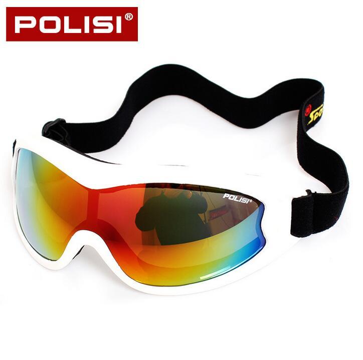 POLISI Winter Ski Snowboard Windproof Goggles Men Women Children Motorcycle Skate Glasses UV400 Anti-Fog Skiing Motocross Eyewe