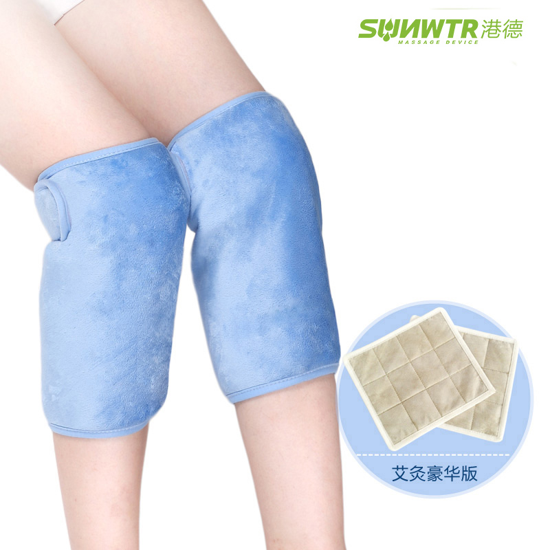 SUNWTR 1 pair heating knee pads electric far warm fomentation joint reduce rheumatism pain protect joint spontaneous heat knee scoyco motorcycle riding knee protector extreme sports knee pads bycle cycling bike racing tactal skate protective ear
