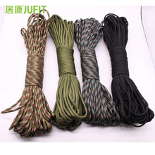 JUFIT Paracord 550 Umbrella Military Specifications III type 7 shares 100FT 31m Climbing Camping Rescue Equipment Rope 4 Colors
