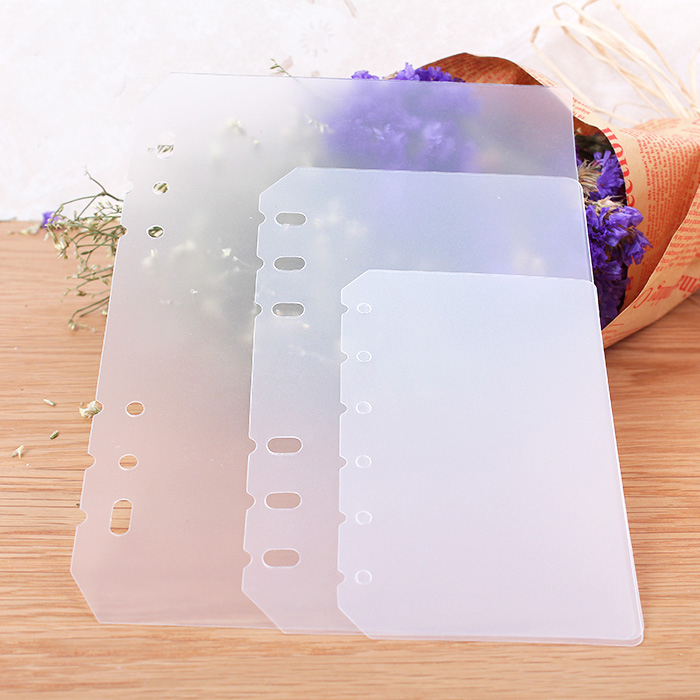 Plastic Loose Leaf Notebook Separator Protection Board Separation Divider Page Bookmark Accessory A5 A6 A7 Frosted