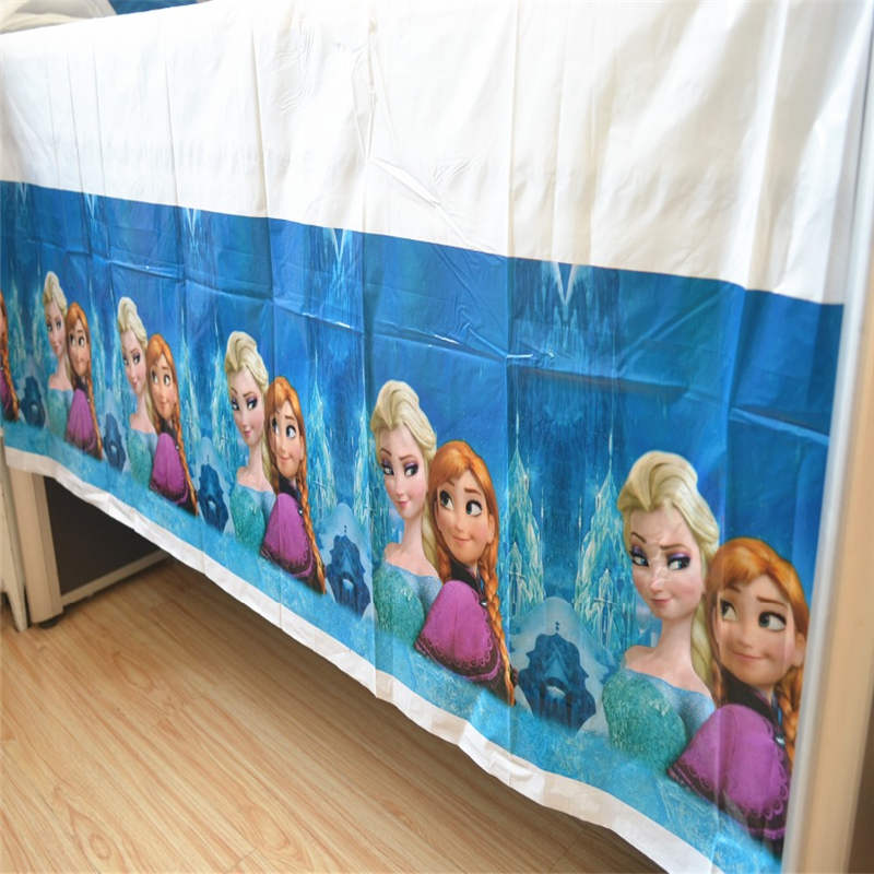 Us 1 79 28 Off Party Supplies Disney Frozen Theme Kid Birthday Party Decoration Princess Elsa Disposable Tablecloth Table Cover 108 108cm 1pcs In
