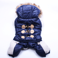 2015 Dog Pet Warm Coat Jacket Puppy Hoody Clothes Horns Deduction Design 4 Sizes