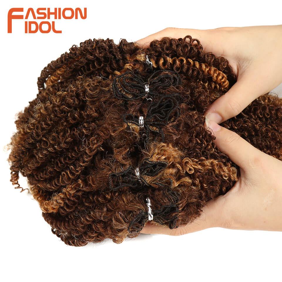 Extensão de cabelo sintético, moda idol, cabelo