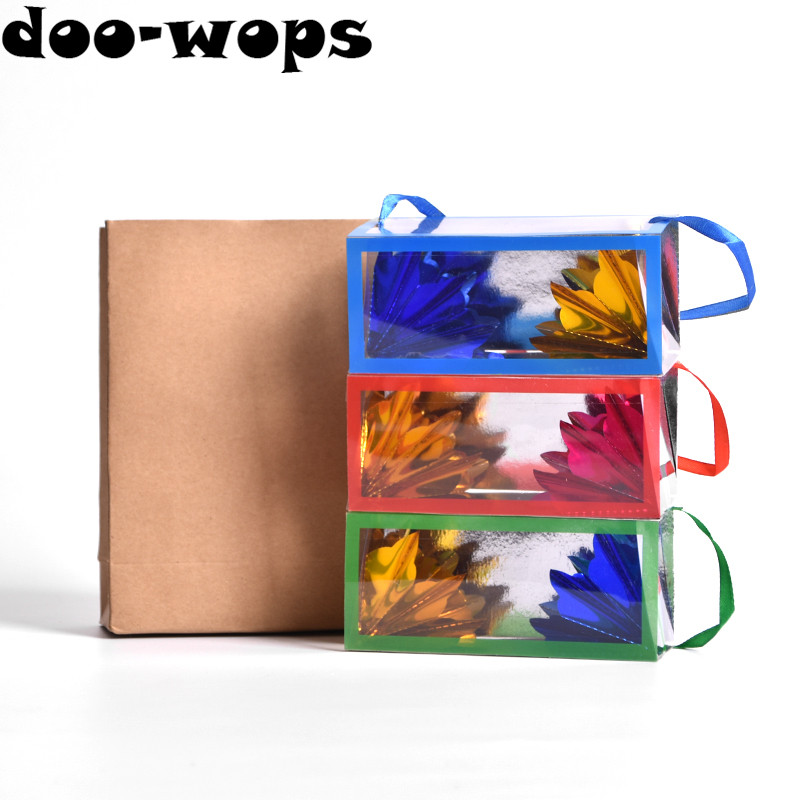 Large Size Super Delux Paper Bag Appearing Flower Box (28 x 11 x 11cm) Flowers From Empty Bag Magic Tricks Stage Gimmick Comedy цена и фото